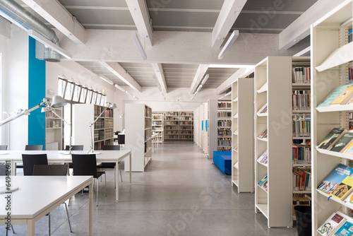 Fotografie, Obraz  Biblioteca