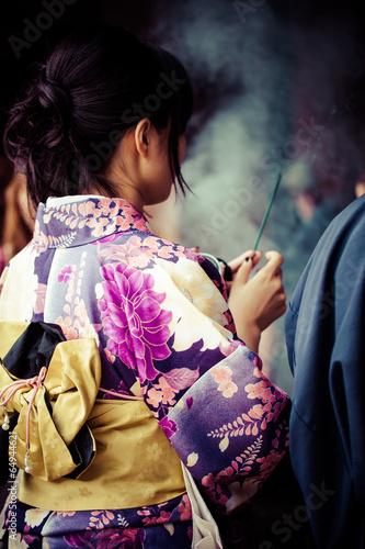 Papiers peints Kyoto Japanese women wear traditional Kimono,Kiyomizu temple,Kyoto