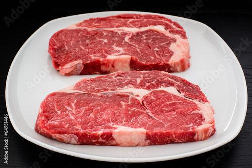 Fotografie, Obraz  entrecote steaks