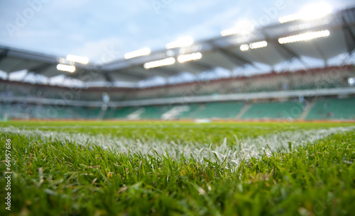 Poster de jardin Stade de football green stadium