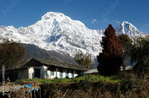 Staande foto Nepal Himalayan cottage