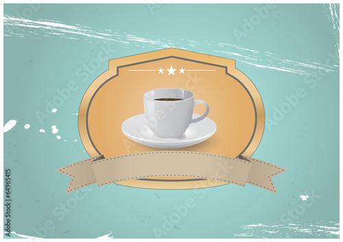 Fototapeta coffee vintage badge obraz na płótnie