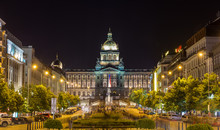 View Of Czech National Museum In Prague