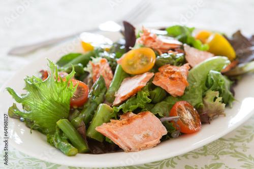 Fotografie, Obraz  Salad with Salmon