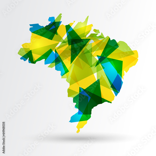Foto  Abstract Brazil map