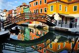 Wenecja, kanał wyspy Burano i kolorowe domy, Włochy - 64968691