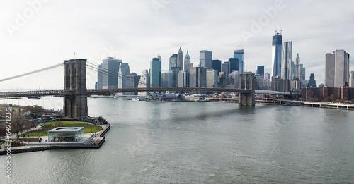 Brooklyn Bridge and Lower Manhattan Skyline.
