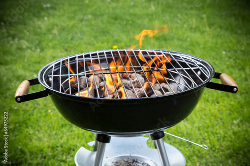 Grill on the garden