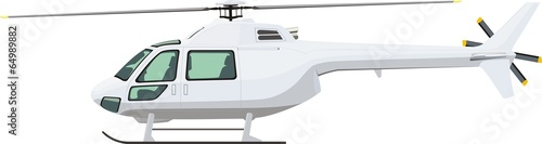 Cuadros en Lienzo helicopter side