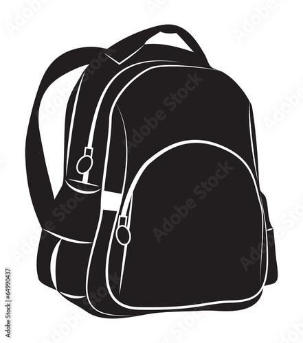 Obraz Backpack on white background - fototapety do salonu