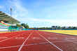 canvas print picture - Running track  in the morning.