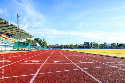 Fotografía  Running track  in the morning.