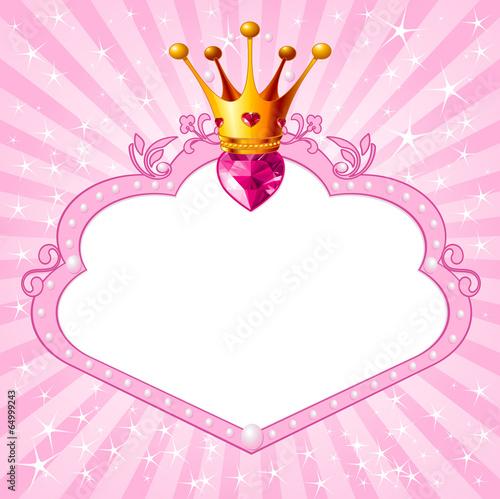 Princess pink frame Poster