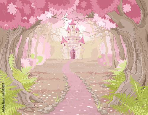 Magic Castle Landscape Poster