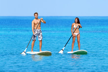 Stand Up Paddleboard Beach Peo...