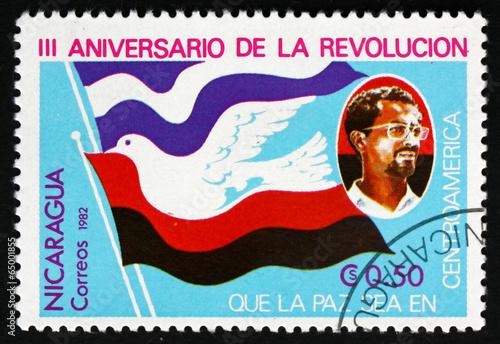 Fotografía  Postage stamp Nicaragua 1982 Symbolic Dove