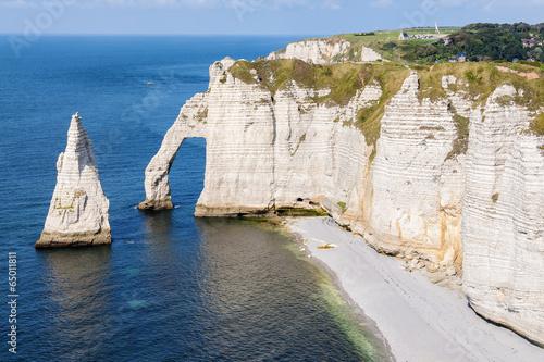 Alabaster coast Normandy Wallpaper Mural