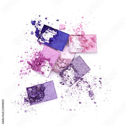 Autocollant pour porte Empreintes Graphiques Colored eye shadow isolated on white background