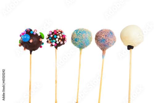Keuken foto achterwand Snoepjes cake cups on stick