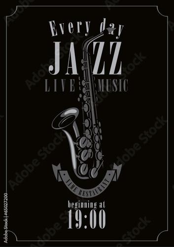 plakat-na-koncert-jazzowy-z-saksofonem