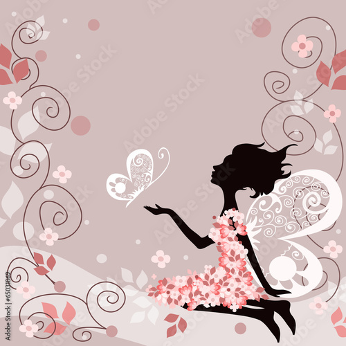 Poster Floral woman 7878677654454