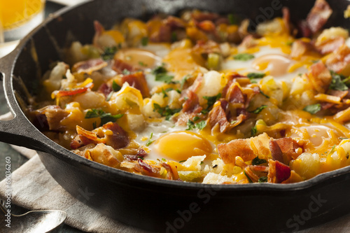Fotografie, Obraz  Homemade Hearty Breakfast Skillet