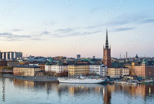 Photo sur Toile Stockholm Riddarholmen, Stockholm