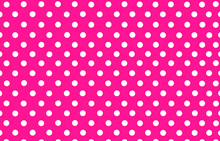The White Polka Dot With Pink Background