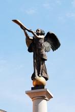 Statue Of An Angel At Uzupio, An District In Vilnius