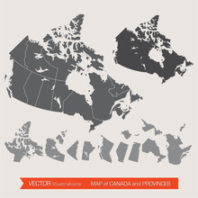Vector Map Of Canada And Provi...