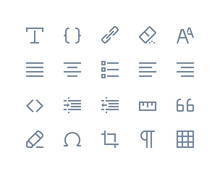 Editing And Formatting Icons. ...