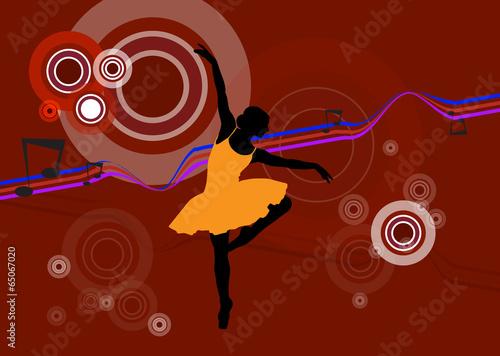 Photo  Ballet female. Vector