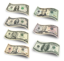 Collection Of Dollar Banknotes...