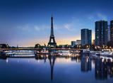 Fototapeta Fototapety z wieżą Eiffla - Tour Eiffel au Crépuscule