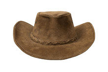 Brown Cowboy Leather Hat Isola...