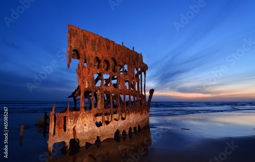 Peter Iredale Shipwreck Canvas Print