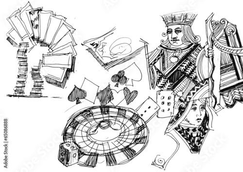 Photo  gambling elements illustration