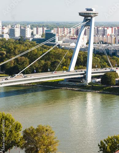 Wall Murals UFO New Bridge, Bratislava, Slovakia