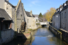 River Aure At Bayeux In France