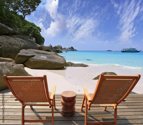 Fototapety, obrazy: Cozy stay on the beach