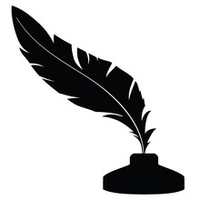 Feather With Ink 1