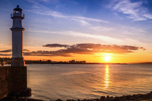 Sunset At Newhaven Harbour, Edinburgh