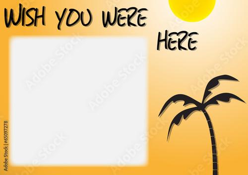 Sunny Postcard Design Canvas Print
