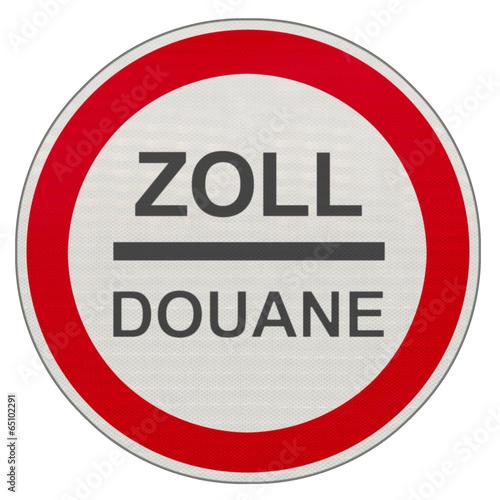 Fotografía  panneau douane