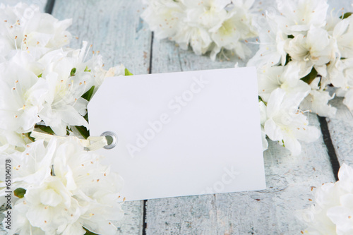 flowers with card Canvas Print