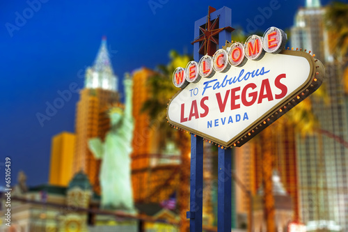 Poster Las Vegas Welcome to Las Vegas neon sign