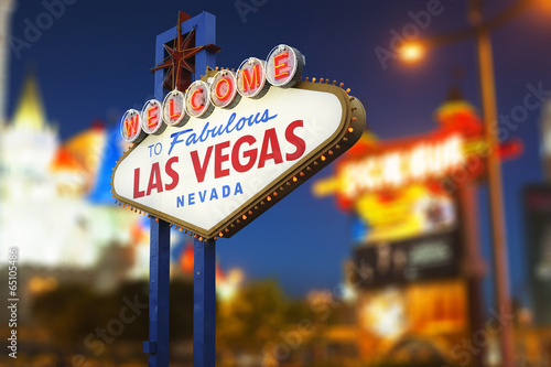 In de dag Las Vegas Welcome to Las Vegas neon sign