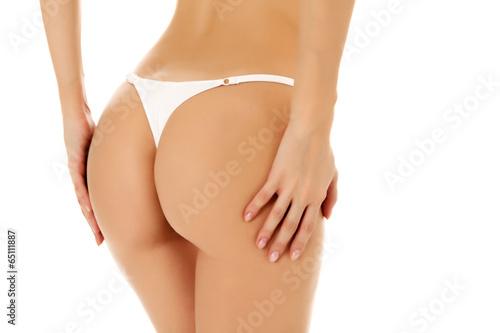 Fotografie, Obraz  Female butt, white background