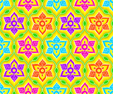 Seamless indian rangoli pattern
