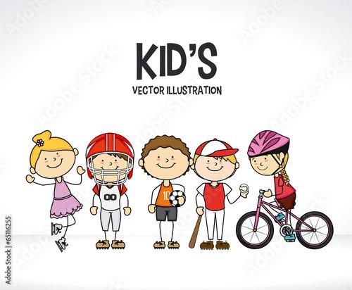Kids design Canvas Print